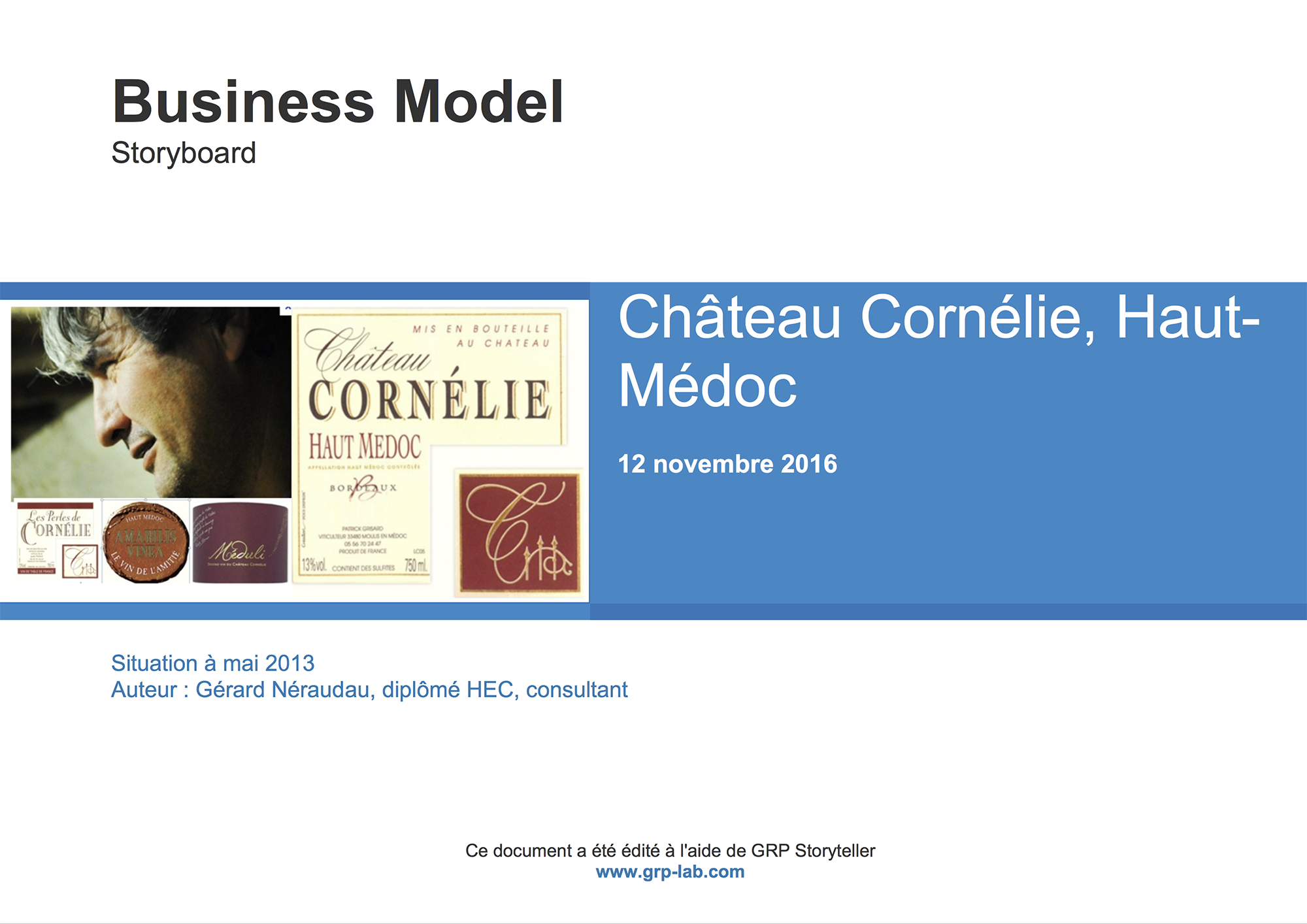 Le Comptoir Français - Business Model Version Storyboard